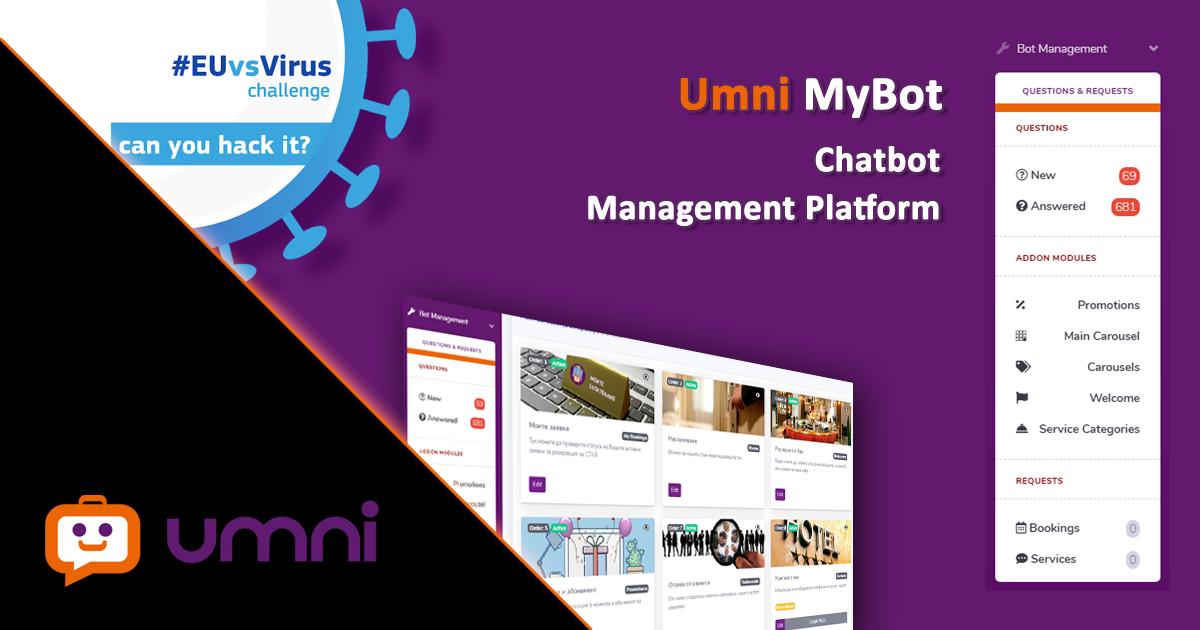 Umni участва с AI чатбот за хотели в #EUvcVirus